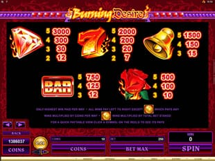 Burning Desire Slot Bonus
