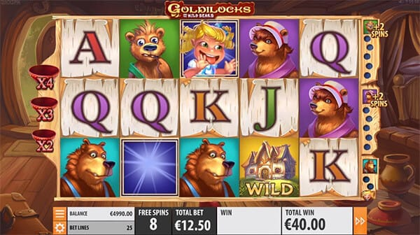 Goldilocks online slot gameplay